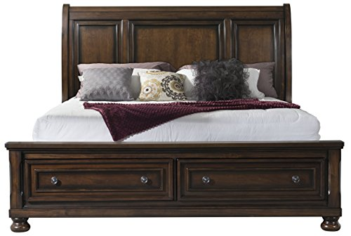 Cambridge 98128BKG-DW Nassau King Storage Bed (Suite King Bedroom Sleigh)