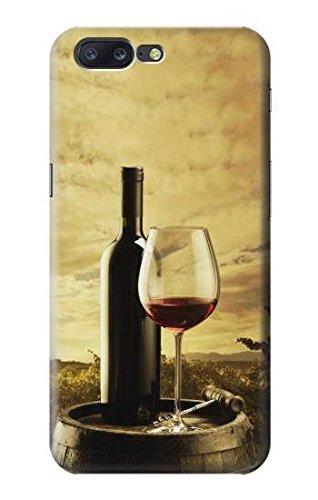 A Grape Vineyard Grapes Bottle and Glass of Red Wine Hülle Schutzhülle Taschen für OnePlus 5