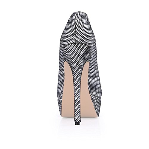 Gomma Centimetri Silver Women's 7 Rubber Donna 4u Migliore Da A 9 Tacchi Best 7cm Luccichio In Stiletto High Toe 4u Sole Ankle Glitter Boots Heels Pointed Punta A Scarpe 9 Suola Stivaletti Shoes Argento Ha Sottolineato Spillo SqTgf