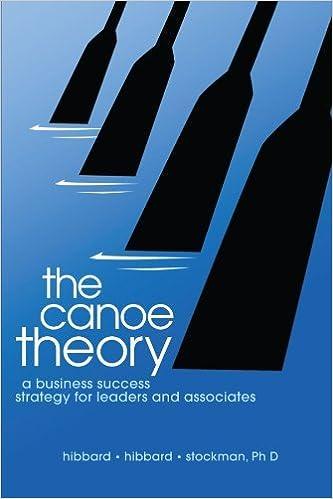 Lire des livres gratuits en ligne gratuitement sans téléchargement The Canoe Theory: A Business Success Strategy for Leaders and Associates by Dave Hibbard (2006-11-22) PDF DJVU B01JXQHS6A