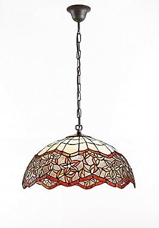 Lámpara de Techo Redonda, Diseño Tiffany Auto ...