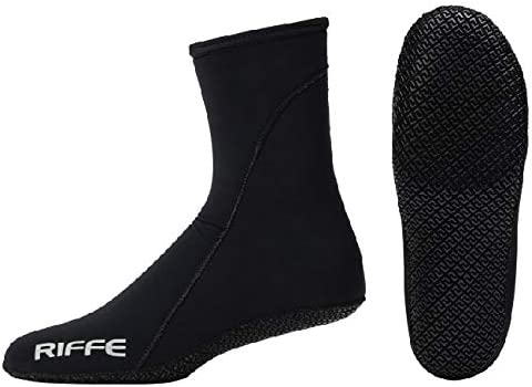 Riffe 2mmネオプレンソックスW/Sole–Great for Scuba Divers、Snorklers andウォータースポーツ