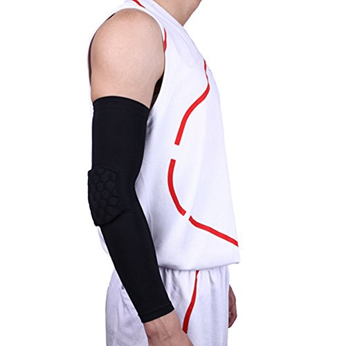[Ezyoutdoor 1 pair Elbow Brace Support Sport Basketball Shock Combat Shooting Hand Arm Sleeves Pad for] (Dance Costumes Seattle)
