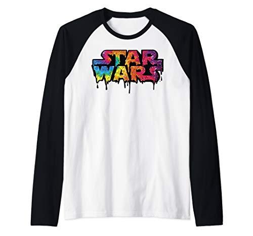 Star Wars Tie-Dye Drip Logo  Raglan Baseball Tee ()