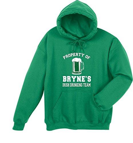 (Unisex-Adult Personalized Irish Custom Name Drinking Team Hoodie Sweatshirt - Xl)