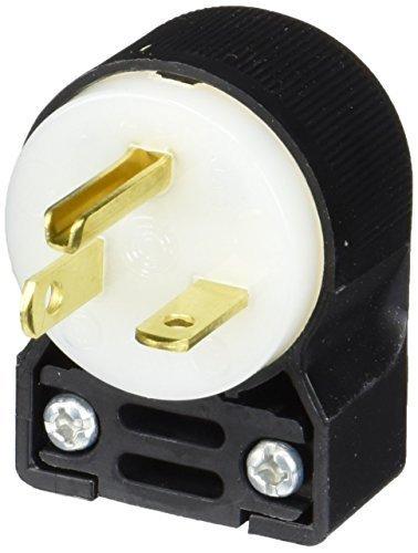 Hubbell HBL5466CA Plug Angle, 20 amp, 250V, 6-20P, Black/White