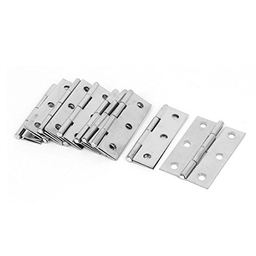 DealMux 57mmx34mmx4mm Stainless Steel Non-Removable Pin Folding Door Butt Hinges 10pcs (Hinge Butt Pin)