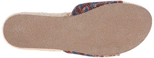 Blowfish Dames Glorie Platte Sandaal Rust Turq Palma Print Stof