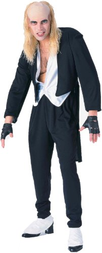 Forum The Rocky Horror Picture Show Riff Raff Complete Costume, Black, Standard (Fits Up To Chest Size 42