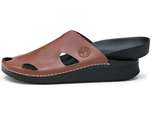 2017 nuevas sandalias del verano de los deslizadores de los hombres marea zapatillas diaria Brown