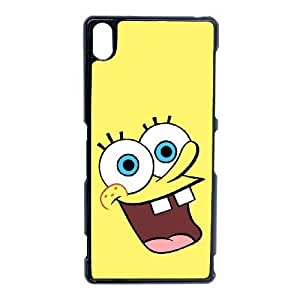Popular And Durable Designed TPU Case With sponge Bob_003 For Sony Xperia Z3 Cell Phone White Cover