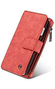 Margoun CaseMe Leather for Apple iPhone 8 with visa holder place - Red