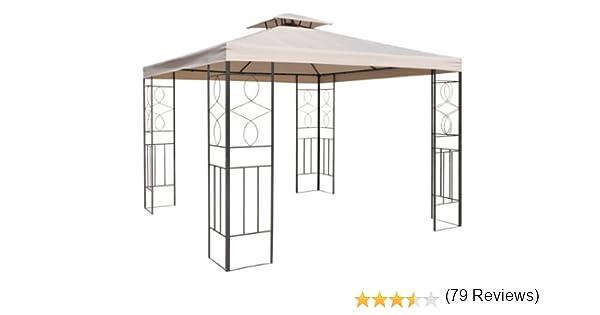 Cenador de repuesto para pabellón de metal (2, 97 x 2, 97) con chimenea (82 x 82 cm): Amazon.es: Jardín