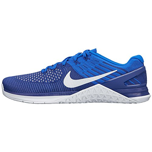 Nike Men's Metcon DSX Flyknit Training Shoe Deep Royal Blue/White-Racer Blue 12 D (M) US by Nike