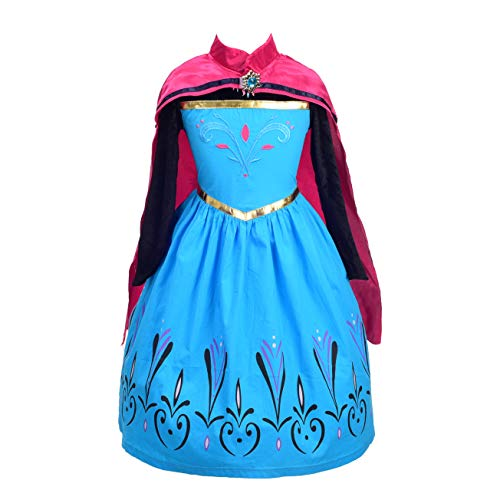 Dressy Daisy Girls Princess Elsa Coronation Dress Up Costume Halloween Size 5/6