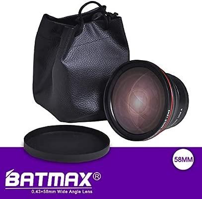 Batmax - Objetivo Gran Angular para cámaras Canon EOS Rebel 77D ...