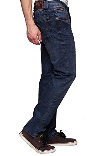 Rusty Neal Jeans Herren Hose Japan Style Clubwear Vintage Verwaschen Fit Used, Modell:8323-34;Hosengröße:W33/L32