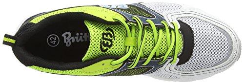 Bruetting Powerful - zapatillas de running de material sintético hombre verde - Grün (lemon/blau/weiss)