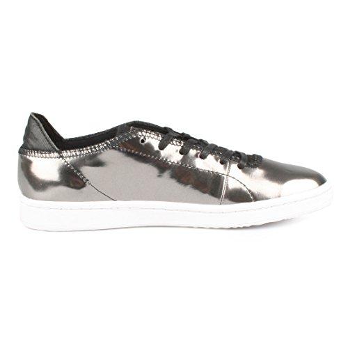 Metallico 047 Woden Sneakers Gunmetal Womens Jane FqWZ51w