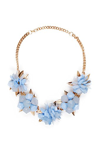 [Floral Chunky Necklace Chain Lobster Clasp Flower Statement Necklaces For Women (yellow, blue)] (Tangled Costume Ideas)