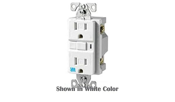 Eaton Wiring Twrvgf15b 15 Amp 125v Tamper Deco Duplex Gfci Receptacle Brown Amazon Com