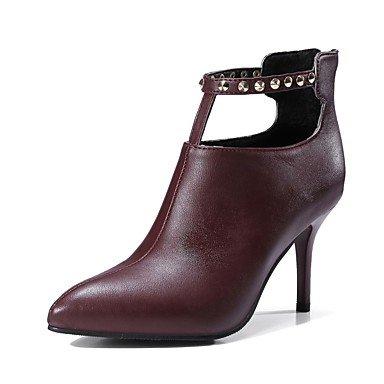 RTRY Zapatos De Mujer Materiales Personalizados Otoño Invierno Bomba Básica Confort Botas Stiletto Talón Señaló Cerrado Toe Toe Botines/Botines De Remache US6 / EU36 / UK4 / CN36