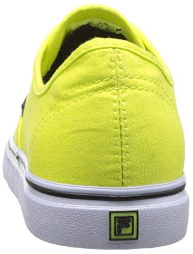 Fila de zapatos de la lona clásica Neon Green/White/Black