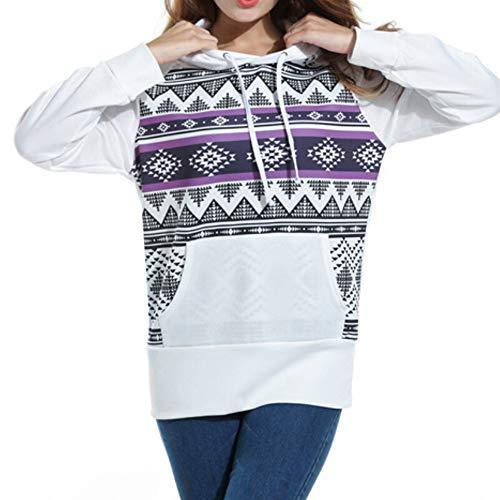 Clearance Sale! Caopixx Sweatshirts for Women Long Sleeve Pullover Lightweight Kangaroo Pocket T-Shirts ()
