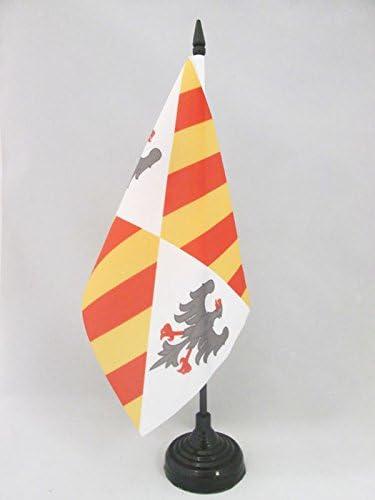 Petit Drapeaux DE Bureau Royal sicilien 14 x 21 cm AZ FLAG Drapeau de Table Royaume Normand de Sicile 1130-1815 21x14cm