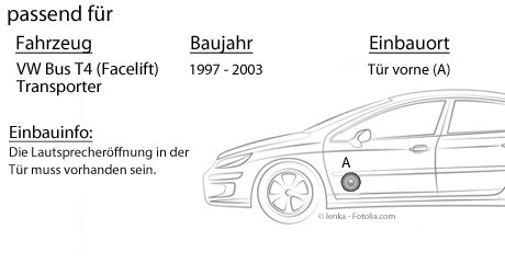JUST SOUND best choice for caraudio 2-Wege 16cm Koax Lautsprecher 16,5cm Auto Einbauzubeh/ör Lautsprecher Boxen Autotek ATX-62 Einbauset f/ür VW Bus T4 Front