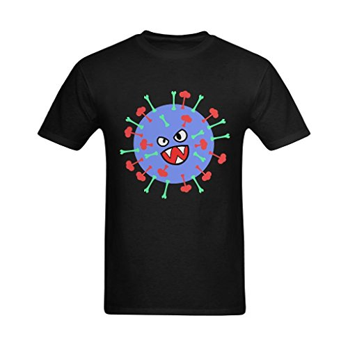 Yvonger Men's Angry Bacillus Subtilis Dad Evil Face Flu Virus Icon Personalized T-shirt Small