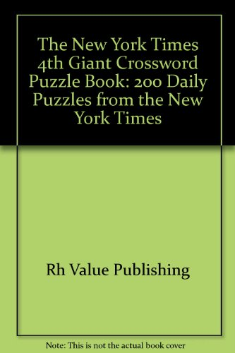 New York Times 4th Giant Crossword Puzzle Book