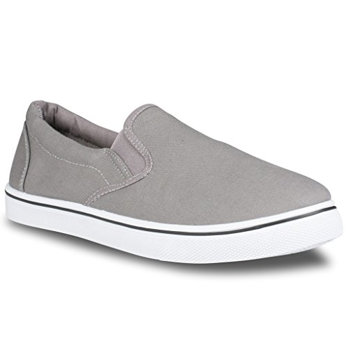 Influence Men's Gore Slip-On Casual Sneaker, GREY, Size - Canvas Boat Shoes