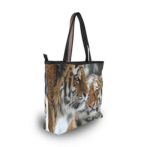 Ladies Tote Shoulder Large Handle Bags Top Handbag JSTEL Patern Women Tiger L 4xgqCwnzE