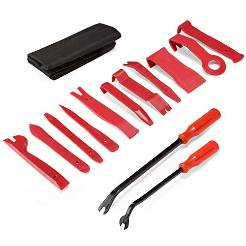 PullPritt Auto Trim Removal Tool Set, 13 Pieces Car Panel Removal Tools Kit with Nylon Storage Pouch by PullPritt (Image #5)