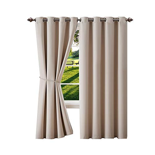 "Warm Home Designs 1 Panel of Ivory Blackout Curtains with Grommets. Long Size Insulated Thermal Window Panel is 54"" X 96"" in Length and Includes Matching Tie-Back. N Ivory 96 from Warm Home Designs"