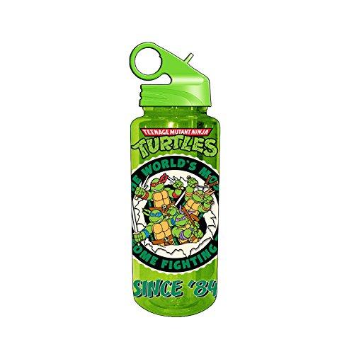 Silver Buffalo NT6789 Nickelodeon Teenage Mutant Ninja Turtles Since '84 Tritan Water Bottle, 20-Ounces]()
