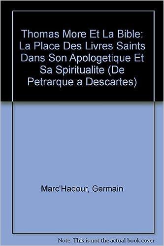 Amazon Com Thomas More Et La Bible La Place Des Livres
