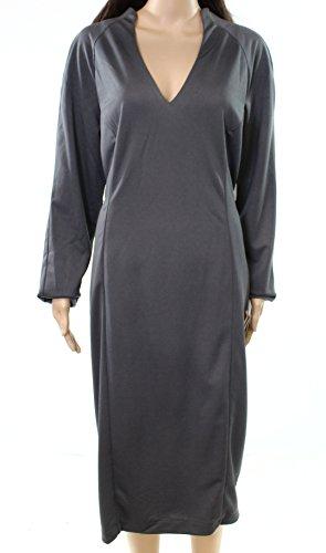 Grand Gris Robe Fourreau De Alexia Femmes V-cou Admor Sombres