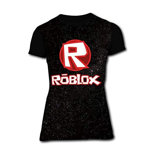 Price comparison product image Women's Shirts Ro-blox Game Womens Short Sleeve Tee Shirt Girls T-Shirts Top Black