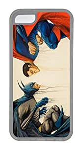 iPhone 5C Case, 5C Case - Protective Flexible Clear Rubber Case Cover for iPhone 5C Batman Vs Superman 2 Ultra Thin Crystal Clear Soft Rubber Case Bumper for iPhone 5C