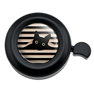 Graphics and More Black Cat in Window Bicycle Handlebar Bike Bell