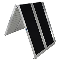 7\' ft Aluminum Multifold Wheelchair Scooter Mobility Ramp portable 84\