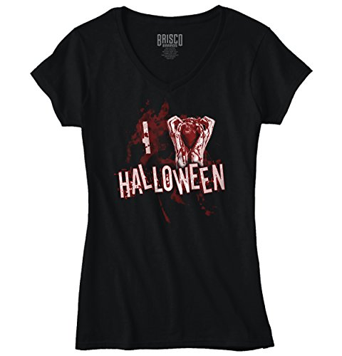 Bloody Heart Halloween Costumes Humor Funny Shirt Gift Ideas T-Shirt Tee (Zombie Dress Up Ideas)