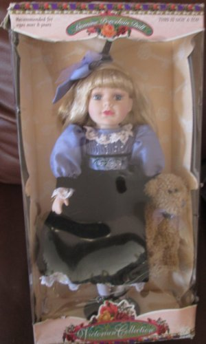- Victorian Collection: Genuine Porcelain Doll By Melissa Jane, Limited Collector's Edition with Certificate of Authenticity and Wooden Stand