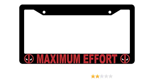 Marvel Comics Deadpool S/'Matter Buddy Black Plastic Auto License Plate Frame