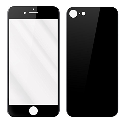 ReVolt Torpedo - Tempered Glass Front & Back Screen Protector for Apple iPhone 7 - Jet (Screen Protector Jet)