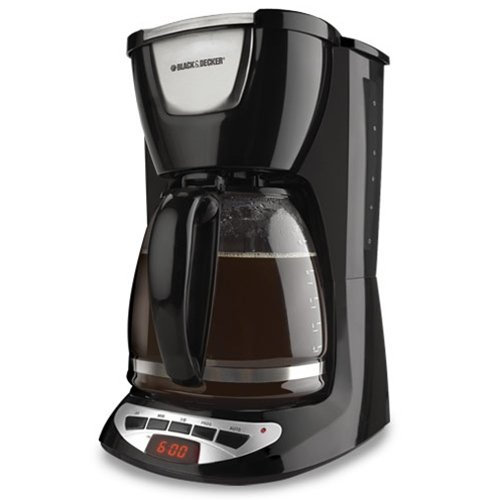 (Black & Decker DCM100B 12-Cup Programmable Coffeemaker with Glass Carafe, Black)