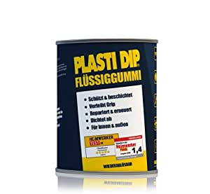 plasti dip 61001023líquido de goma, negro, 200g