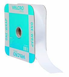 VELCRO Brand - ONE-WRAP Roll, Double-Sided, Self Gripping Multi-Purpose Hook and Loop Tape, Reusable, 45\' x 1 1/2\